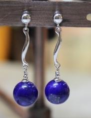 Boucles d'oreilles en Lapis Lazuli d'Afghanistan