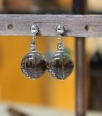 Boucles d'oreilles en Quartz Fumé du Brésil