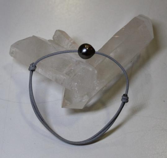 Bracelet avec Perle Grise de Tahiti