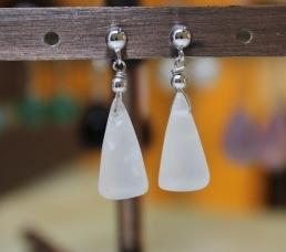 Boucles d'oreilles en cristal de roche du brésil