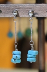 Boucles d'oreilles en Turquoise du Nouveau Mexique