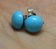 Boucles d'oreilles Puces en Turquoise des Navajo