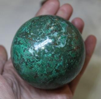 Sphère en Chrysocolle d'Afrique du Sud